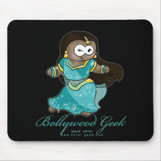 bollywood geek for black copy, bollywood geek text mouse pad