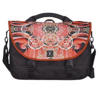 Bollywood Rose in Coral Laptop Messenger Bag