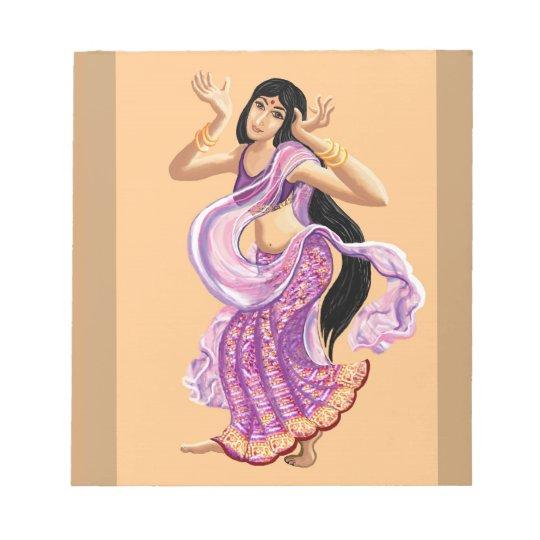 Bollywood sari dancer notepad