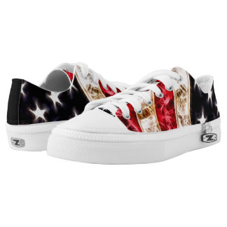 BOLO American Flag Fractal Custom Low Top Zipz