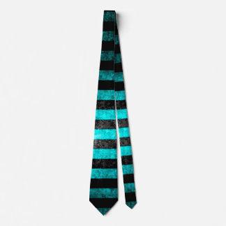 BOLO Blue Steampunk Grunge Stripes Satin Tie