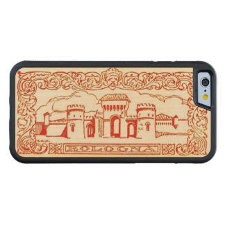 Bologna Italy antique vintage art woodcarving seal Carved® Maple iPhone 6 Bumper Case
