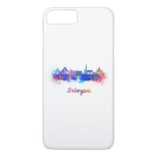 Bologna skyline in watercolor iPhone 7 plus case