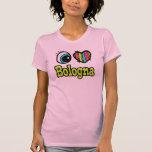 Bolonia brillante del amor del corazón I del ojo Camisetas