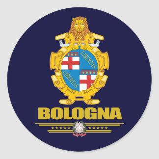 Bolonia Pegatina Redonda