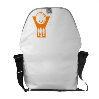Bolos anaranjados bolsa de mensajería
