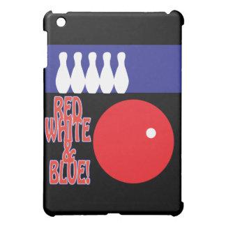 Bolos blancos y azules rojos