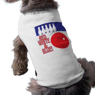 Bolos blancos y azules rojos prenda mascota