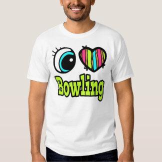 Bolos brillantes del amor del corazón I del ojo Playeras