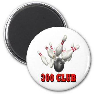 Bolos de 300 clubs imán redondo 5 cm