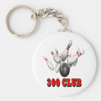 Bolos de 300 clubs llavero redondo tipo pin