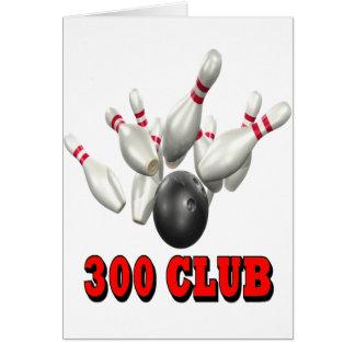 Bolos de 300 clubs tarjeta de felicitación