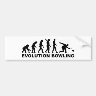 Bolos de la evolución etiqueta de parachoque
