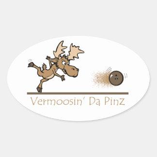 Bolos de los alces de Vermoosin DA Pinz Vermont Pegatina De Ovaladas