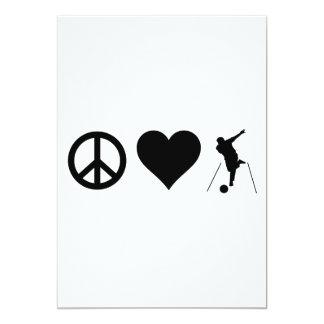 """Bolos del amor de la paz invitación 5"""" x 7"""""""
