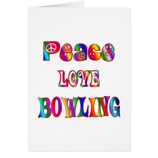 Bolos del amor de la paz tarjeta de felicitación