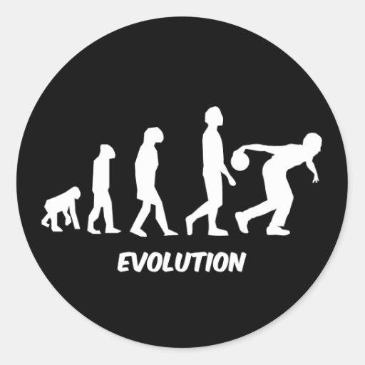 bolos divertidos de la evolución pegatina redonda