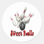 Bolos dulces de Rolls Pegatinas Redondas