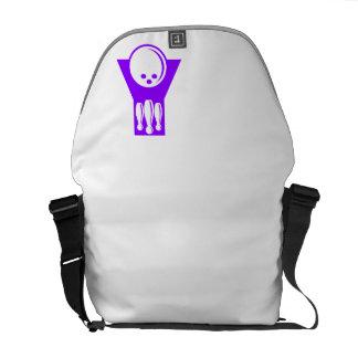 Bolos púrpuras violetas bolsa de mensajeria