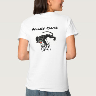 Bolos retros del gato negro de Catz del callejón Playeras