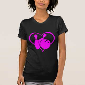Bolos rosados del corazón camiseta