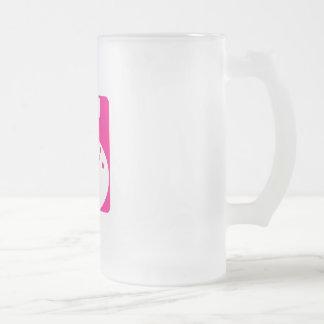 Bolos rosados taza de cristal