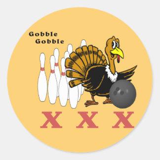 Bolos Turquía XXX Pegatina Redonda