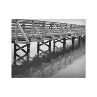 Bolsa Chica Wetlands Bridge Wrapped Canvas