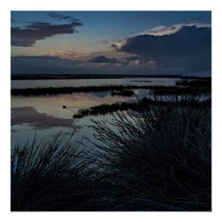 Bolsa Chica Wetlands, California Sunrise Poster