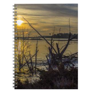 Bolsa Chica Wetlands Camouflage Sunset Notebook
