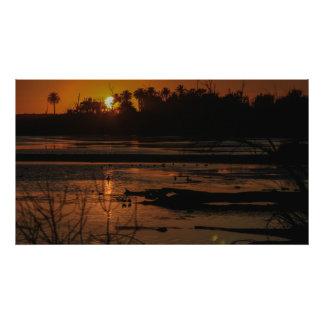 Bolsa Chica Wetlands Golden Sunset Print