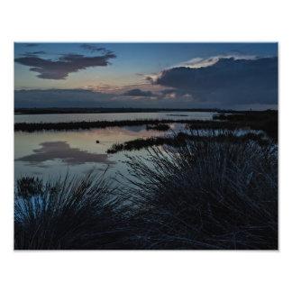 Bolsa Chica Wetlands In California Sunrise Print. Photo Print