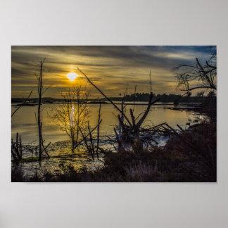 Bolsa Chica Wetlands Sunset Print