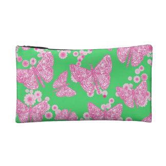 Bolsa cosmética floral de la mariposa pequeña