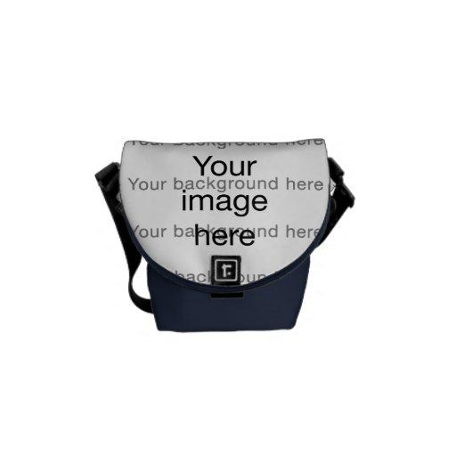 Bolsa de encargo de plantilla en blanco doble bolsa de mensajería