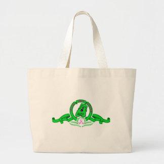 Bolsa de Grin el perrito verde Canvas Bags