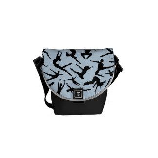 Bolsa de mensajero azul de los bailarines bolsa messenger