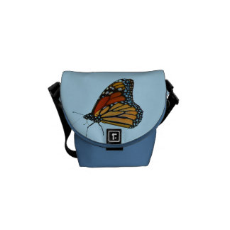 Bolsa de mensajero cero de la mariposa de monarca  bolsas de mensajería