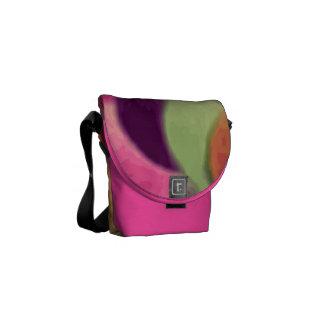 Bolsa de mensajero cero del arte del arco iris la  bolsa messenger