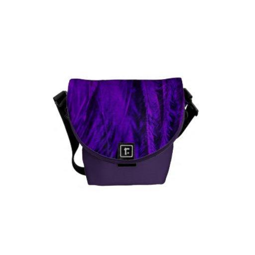 Bolsa de mensajero de la boa de plumas púrpura del bolsas messenger