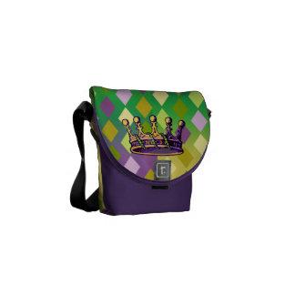 Bolsa de mensajero de la corona del carnaval la mi bolsas de mensajeria