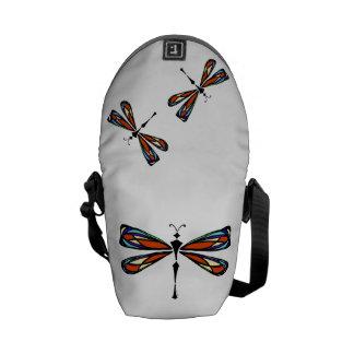 Bolsa de mensajero de la libélula del vitral la mi bolsa de mensajeria