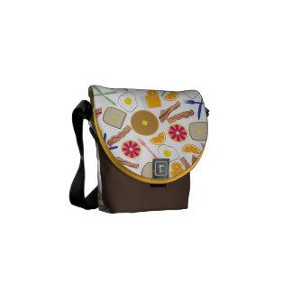 Bolsa de mensajero de las comidas de desayuno la m bolsas messenger