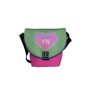 Bolsa de mensajero del corazón del caramelo la min bolsa de mensajería