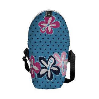 Bolsa de mensajero del hibisco hawaiano de Pokii Bolsas De Mensajeria