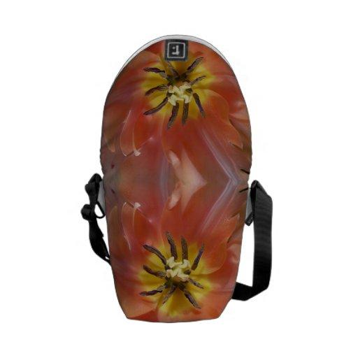 Bolsa de mensajero del tulipán del melocotón de la bolsas messenger