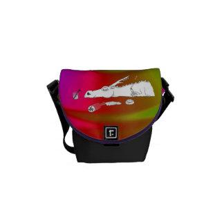 bolsa de mensajero empedrada del carrito del bolsa messenger