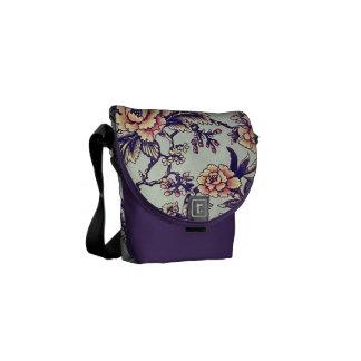 Bolsa de mensajero floral retra del Peony del árbo Bolsa Messenger