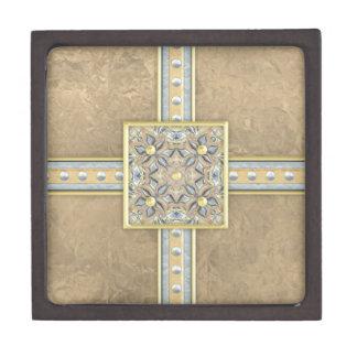 Bolsa de papel de Brown Bling Cajas De Joyas De Calidad