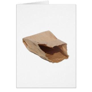 Bolsa de papel de Brown Tarjeta De Felicitación